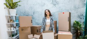 woman stressed about her move