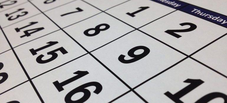 a calendar - hire local Greenwich Village movers