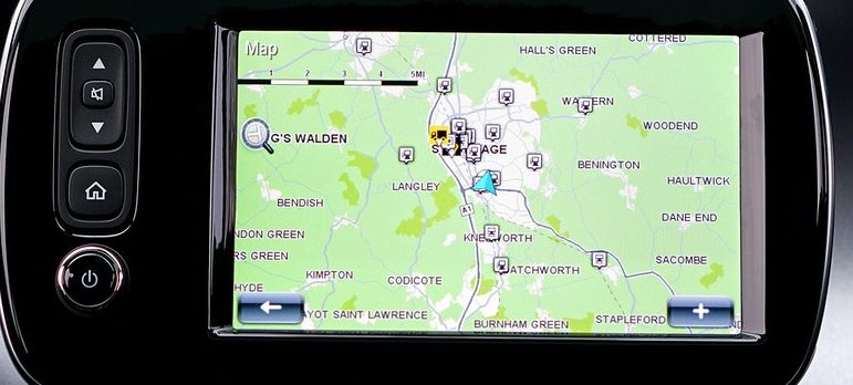 GPS in the car
